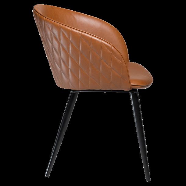 Spisebordsstol - Cognac læder - Model Dual