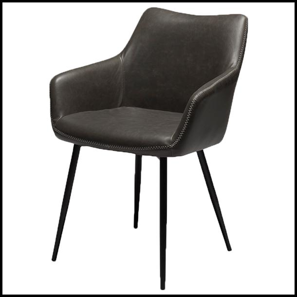 Spisebordsstol - Maria - Sort/grå